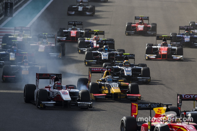 Nobuharu Matsushita, ART Grand Prix y Antonio Giovinazzi, PREMA Racing