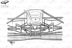 Ferrari F310B (648/2) 1997, dettaglio del naso