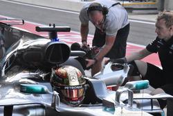 Lewis Hamilton, Mercedes AMG F1 W08 caja de aire