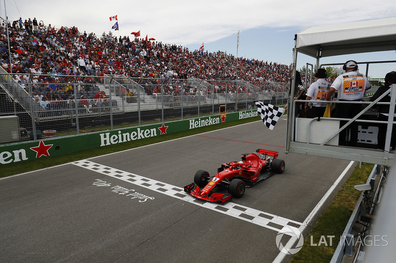 Vettel wasn't confused by the early waving of the chequered flag