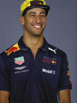 Daniel Ricciardo, Red Bull Racing, in the Thursday drivers Press Conference