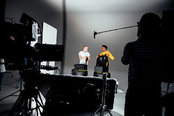 Valtteri Bottas, Lewis Hamilton, behind the scenes at the Mercedes launch
