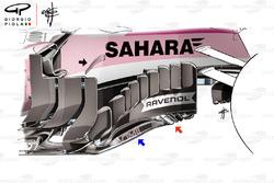 Боковой дефлектор Sahara Force India F1 VJM11, Гран При Великобритании