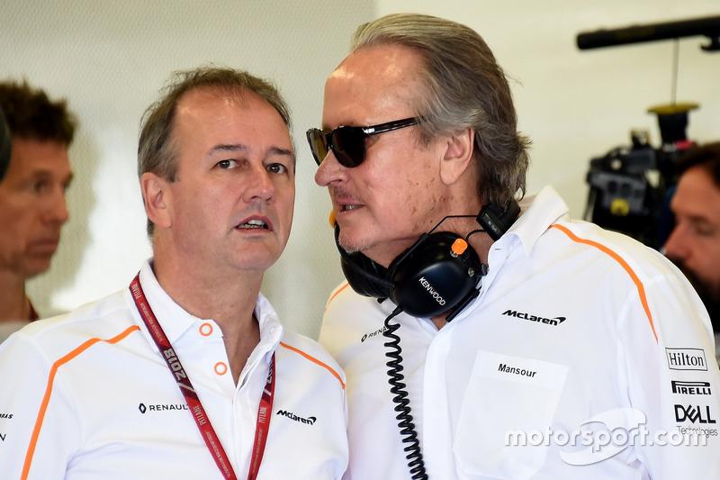 Jonathan Neale, Managing Director McLaren e Mansour Ojjeh, McLaren