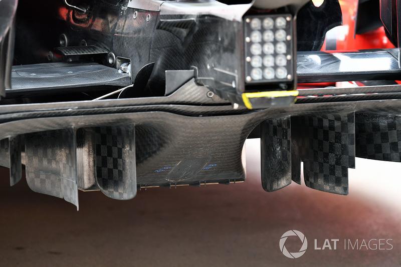 Ferrari SF71H detalle del difusor trasero