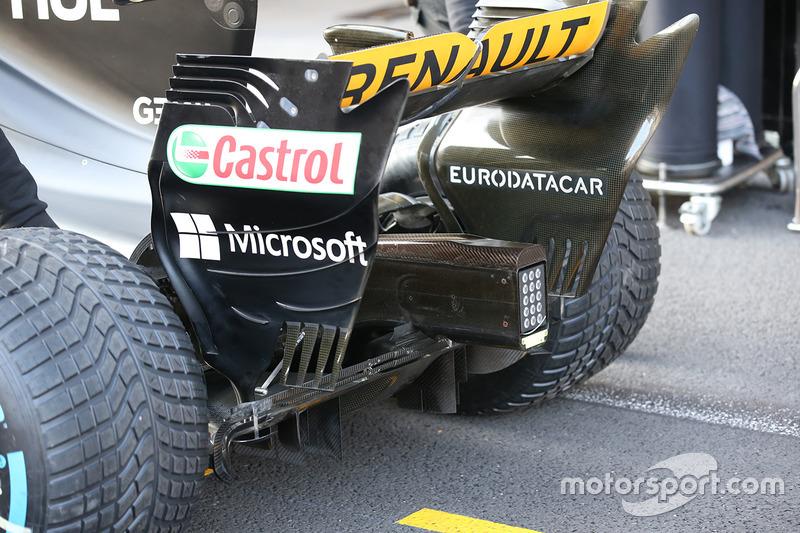 Aileron arrière de la Renault Sport F1 Team RS17