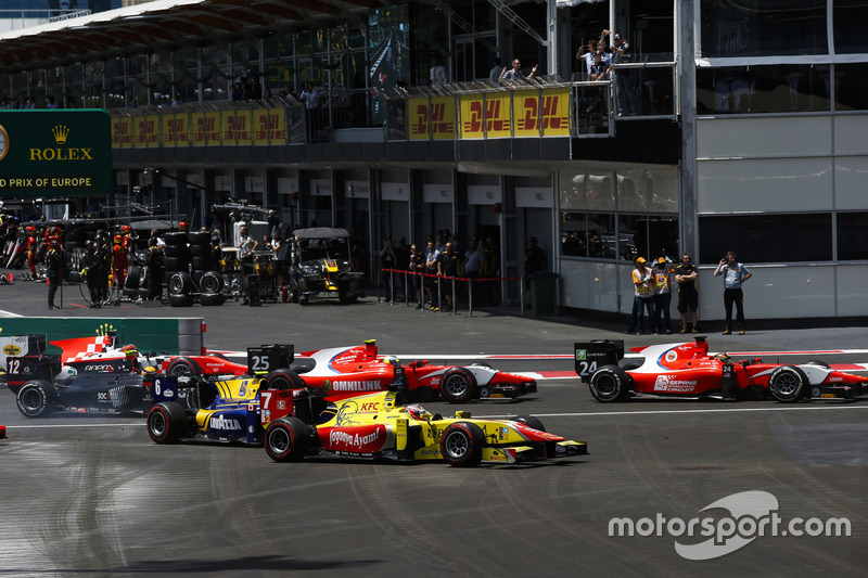 Nabil Jeffri, Arden International, Jimmy Eriksson, Arden International, Mitch Evans, Pertamina Campos Racing, Nicholas Latifi, DAMS Arthur Pic, Rapax & Daniel de Jong, MP Motorsport