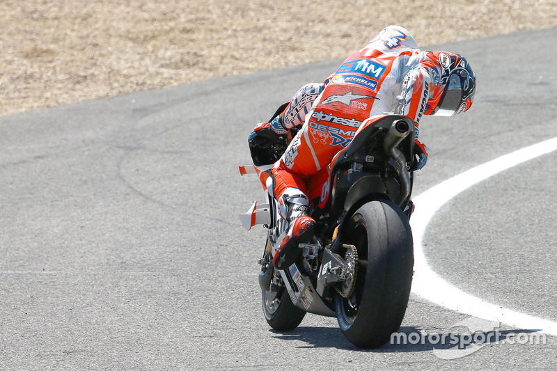 Andrea Dovizioso, Ducati Team, wird langsamer