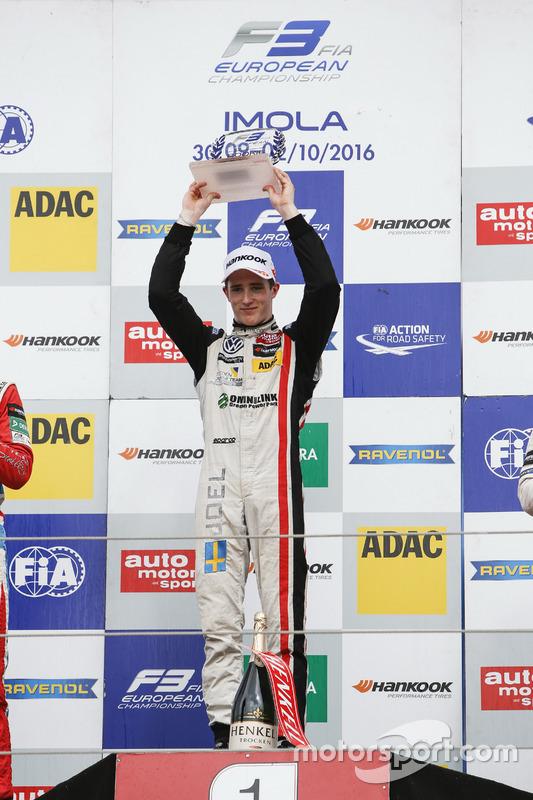 Rookie Podium: Joel Eriksson, Motopark Dallara F312 – Volkswagen