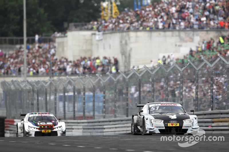 Nico Müller, Audi Sport Team Abt Sportsline, Audi RS 5 DTM; Tom Blomqvist, BMW Team RBM, BMW M4 DTM