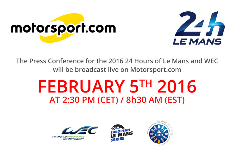 Press Conference for the 2016 24 Hours of Le Mans and WEC