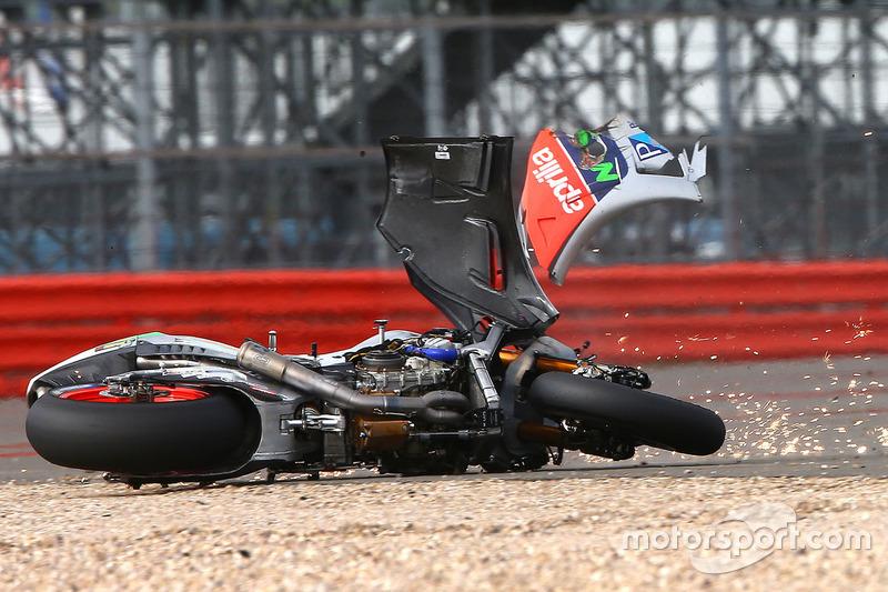 Alvaro Bautista, Aprilia Racing Team Gresini crash
