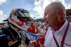 Race winner Pierre Gasly, PREMA Racing with Dr. Helmut Marko