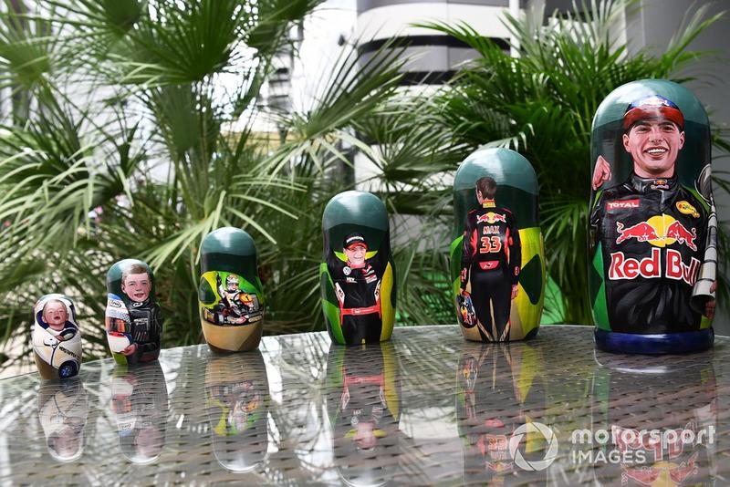 Boneka Matryoshka Max Verstappen, Red Bull Racing