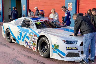 Villeneuve NASCAR Euro testing