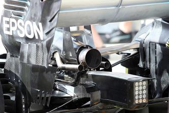L'échappement de la Mercedes AMG F1 W09