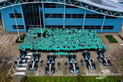 Mercedes AMG 6. világbajnoki ünneplés
