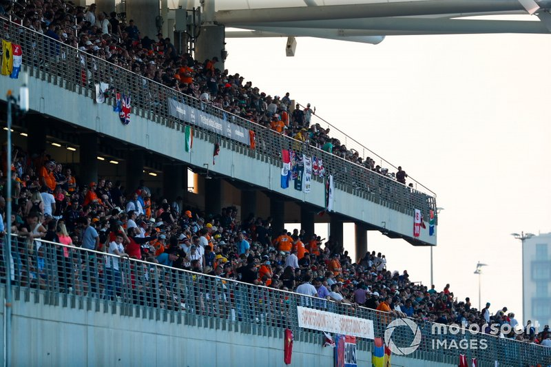 Fans in a grandstand