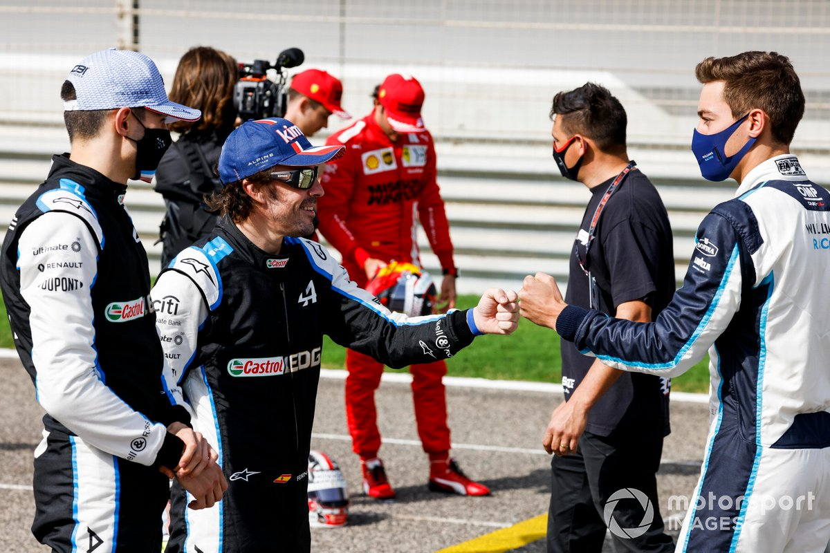 Esteban Ocon, Alpine F1, Fernando Alonso, Alpine F1 dan George Russell, Williams