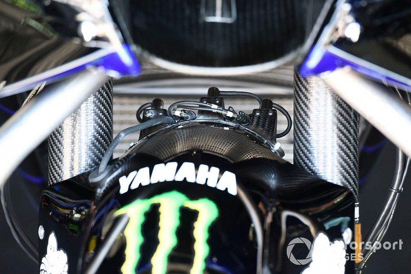 Sensoren op de Yamaha van Valentino Rossi