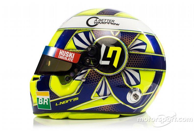 Helm van Lando Norris, McLaren