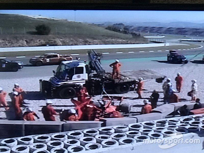 Sebastian Vettel, Ferrari SF90, kecelakaan