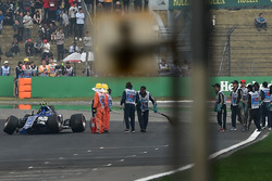 Antonio Giovinazzi, Sauber C36 crashed