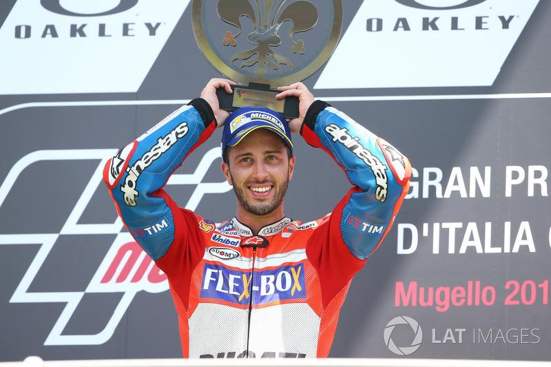 Dovizioso menjadi pembalap Ducati pertama yang menang sejak 2009