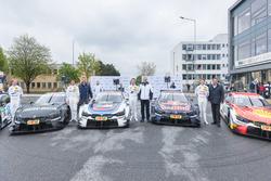 Bruno Spengler, BMW Team RBM; Tom Blomqvist, BMW Team RBM; Marco Wittmann, BMW Team RMG; Augusto Farfus, BMW Team RMG