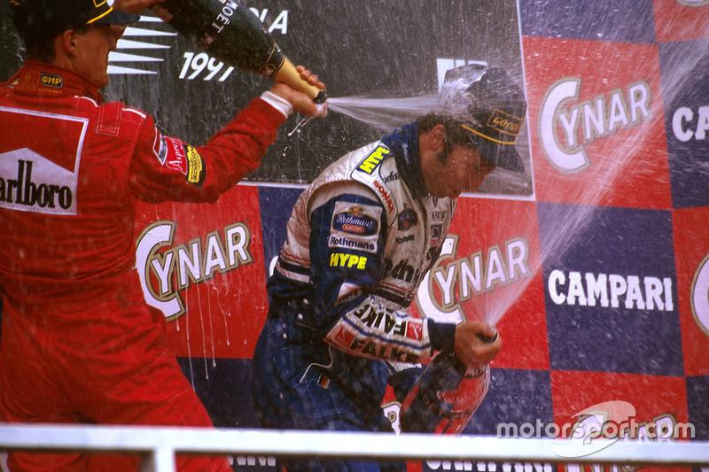 Schumacher feiert mit Frentzen