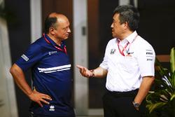 Frederic Vasseur, Sauber-Teamchef, Masashi Yamamoto, Honda-Motorsportchef