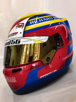 Casco di Charles Leclerc, PREMA Powerteam