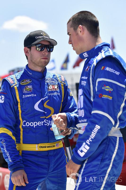 Chase Briscoe, Brad Keselowski Racing, Ford; Austin Cindric, Brad Keselowski Racing, Ford