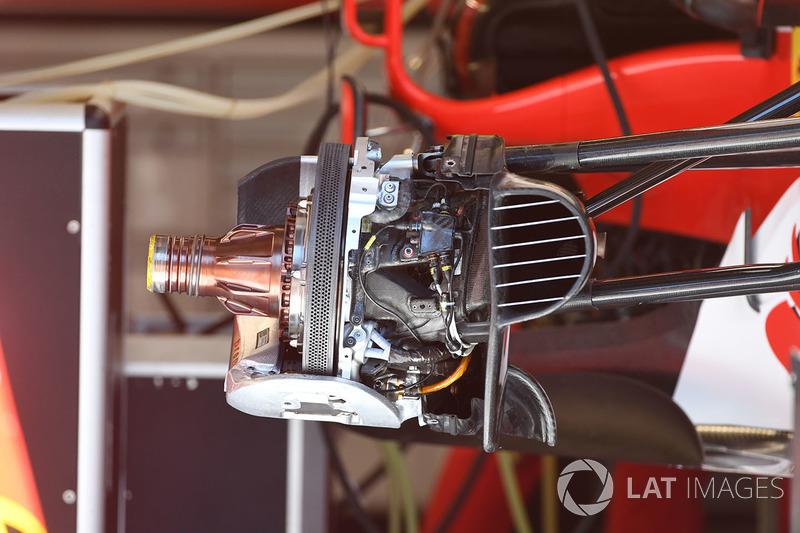 Ferrari SF70H detail van remsysteem voor