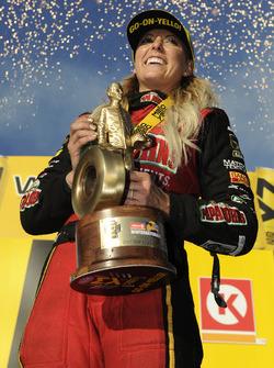Top Fuel winner Leah Pritchett