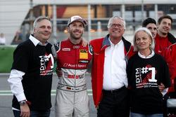 Champion René Rast, Audi Sport Team Rosberg, Audi RS 5 DTM with his fahter and Arno Zensen, Audi Sport Team Rosberg