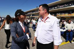 Emerson Fittipaldi, Eric Boullier, McLaren Racing Director