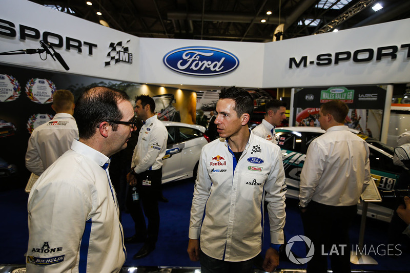 WRC drivers around the M-SPort stage