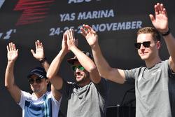 Felipe Massa, Williams, Fernando Alonso, McLaren et Stoffel Vandoorne, McLaren sur scène