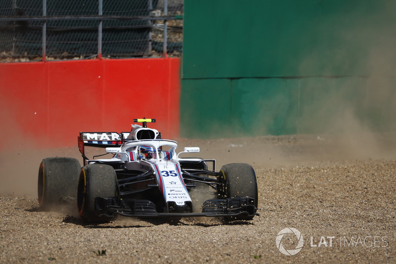 Sergey Sirotkin, Williams FW41, melintir
