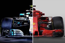 Comparación del Mercedes y el Ferrari