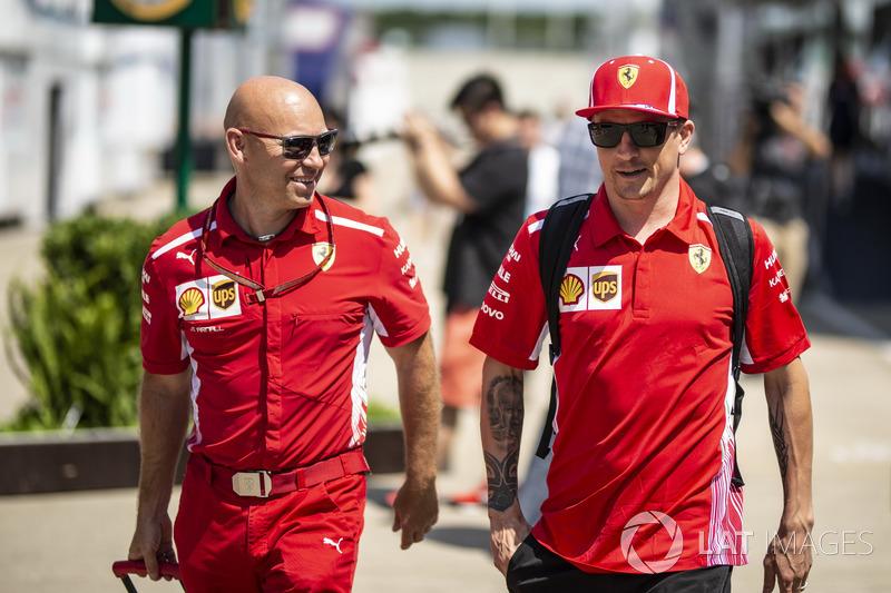 Kimi Raikkonen, Ferrari con Mark Arnall, preparatore