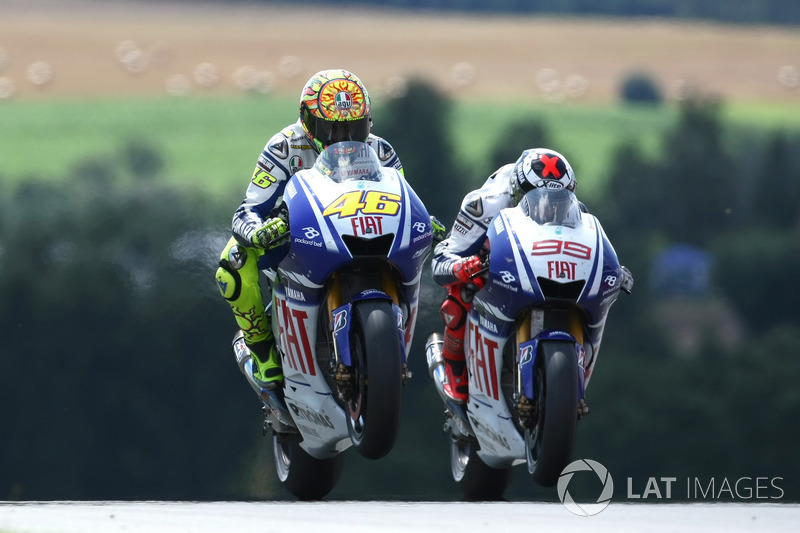 2009. Valentino Rossi et Jorge Lorenzo