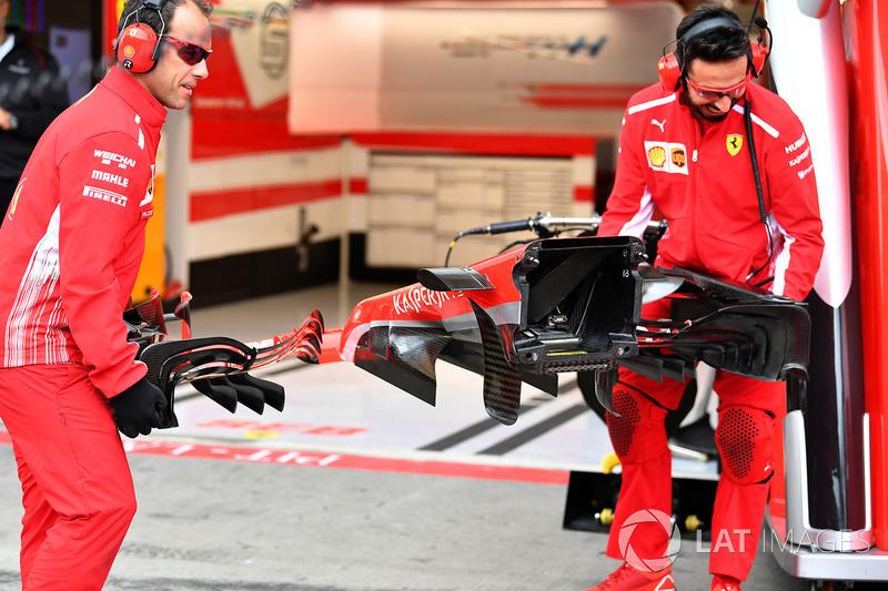 Ferrari SF71H neus detail