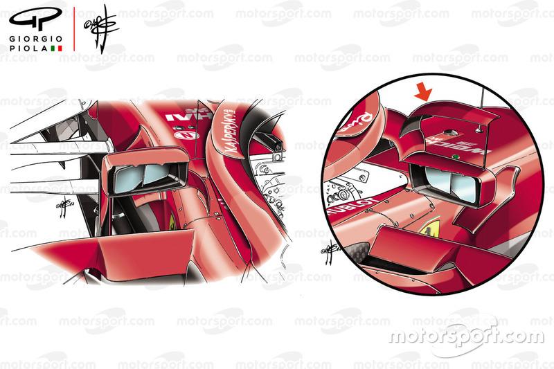 Зеркала заднего вида Ferrari SF71H