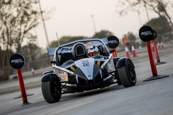 Khaled Al Qubaisi, driving the Ariel Atom Cup in ROC Factor Middle East