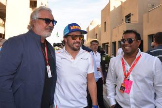 Flavio Briatore et Fernando Alonso, McLaren