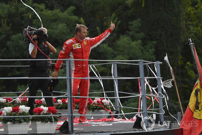 Kimi Raikkonen teve que se conformar com a segunda posição