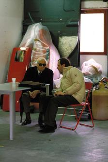 Enzo Ferrari avec Marco Piccinini, directeur sportif de Ferrari
