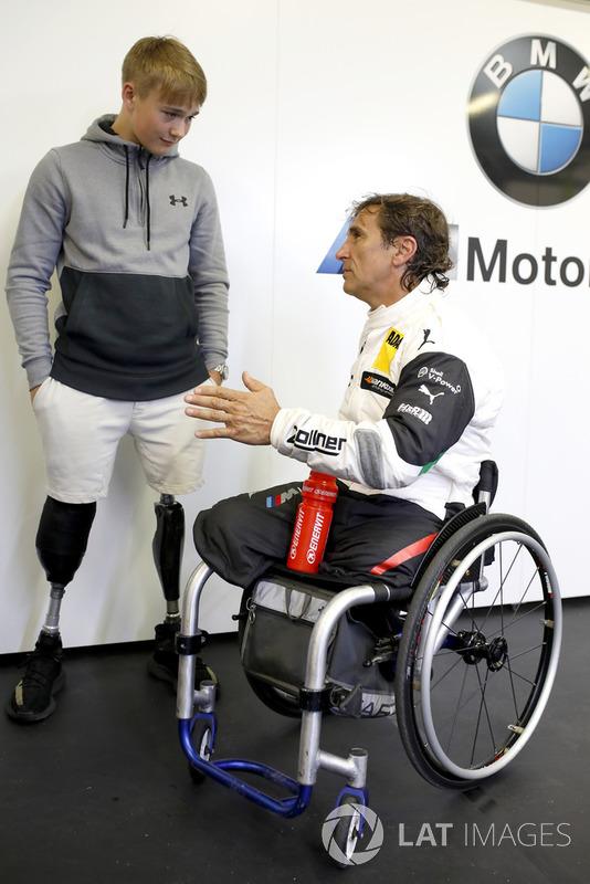 Billy Monger with Alex Zanardi, BMW Team RMR